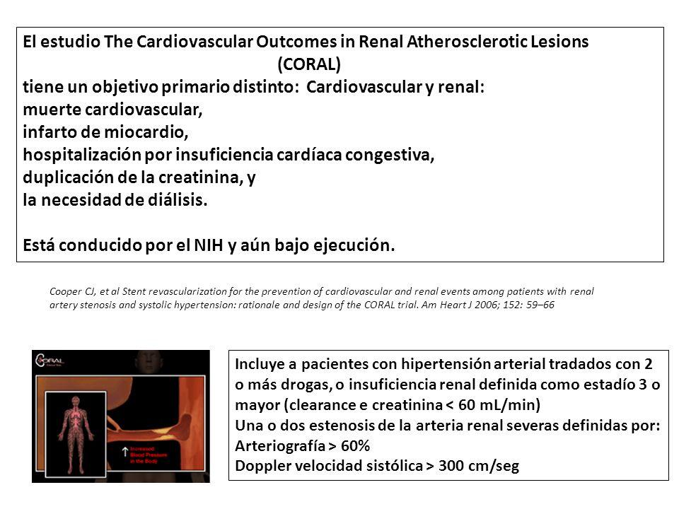 tiene un objetivo primario distinto: Cardiovascular y renal: