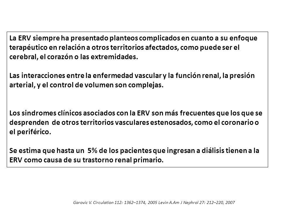 La ERV siempre ha presentado planteos complicados en cuanto a su enfoque terapéutico en relación a otros territorios afectados, como puede ser el cerebral, el corazón o las extremidades.