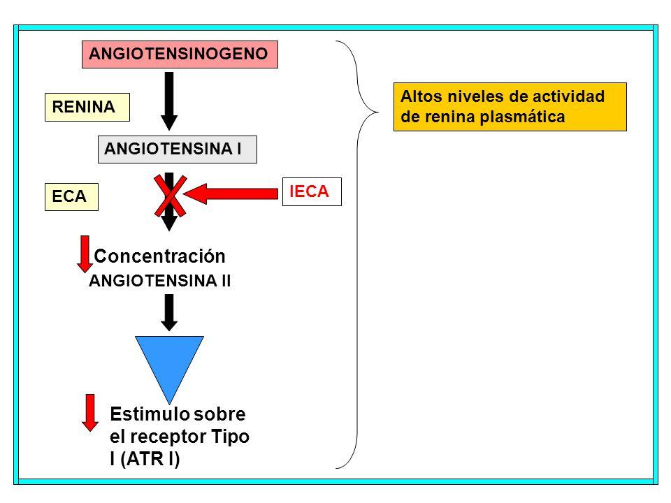 Estimulo sobre el receptor Tipo I (ATR I)