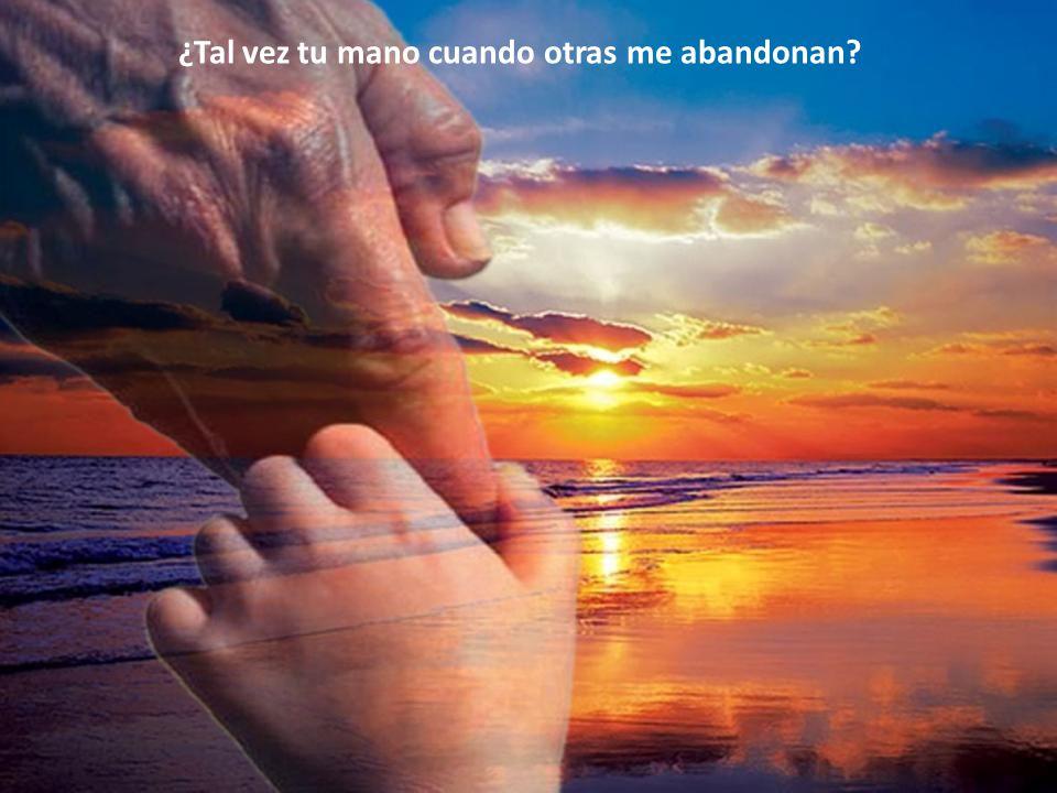 ¿Tal vez tu mano cuando otras me abandonan