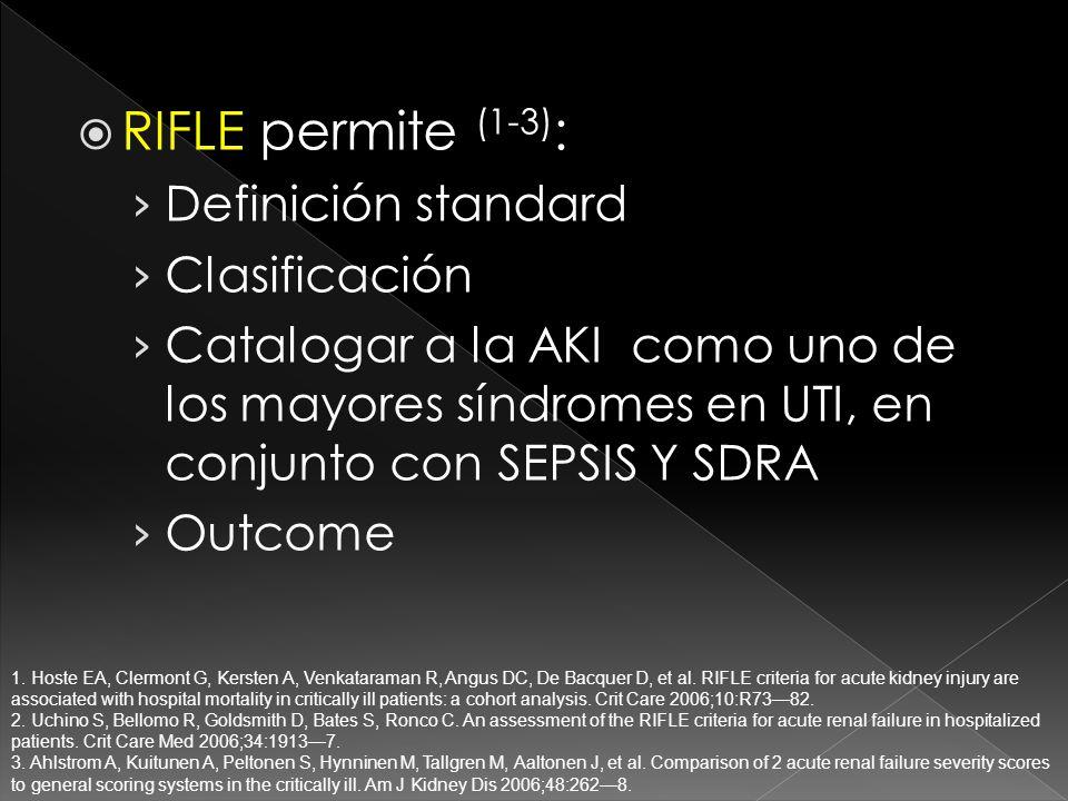 RIFLE permite (1-3): Definición standard Clasificación