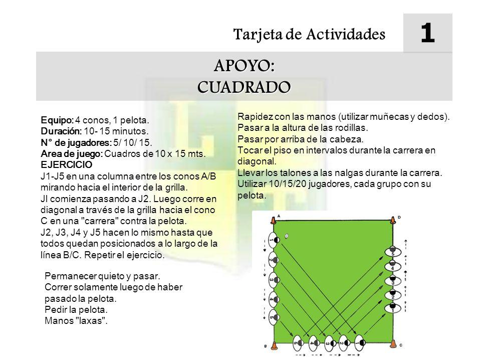 1 APOYO: CUADRADO Tarjeta de Actividades