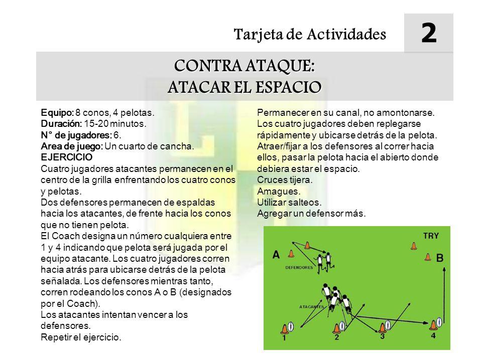 2 CONTRA ATAQUE: ATACAR EL ESPACIO Tarjeta de Actividades