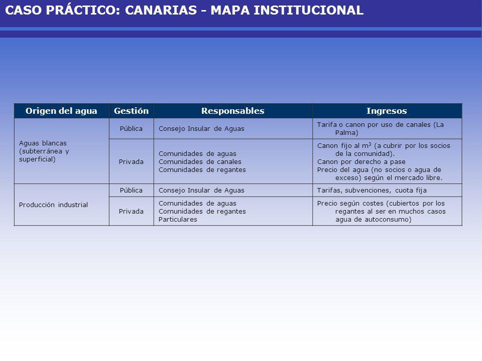 CASO PRÁCTICO: CANARIAS - MAPA INSTITUCIONAL