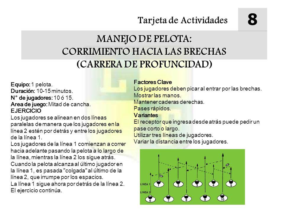 CORRIMIENTO HACIA LAS BRECHAS (CARRERA DE PROFUNCIDAD)
