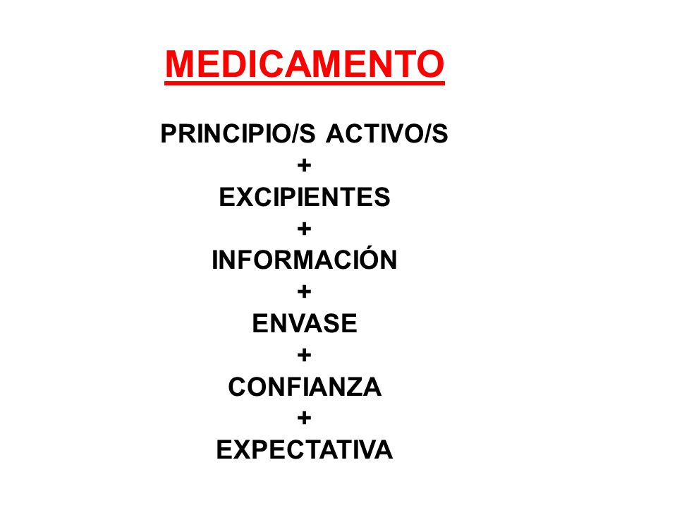 MEDICAMENTO PRINCIPIO/S ACTIVO/S + EXCIPIENTES INFORMACIÓN ENVASE
