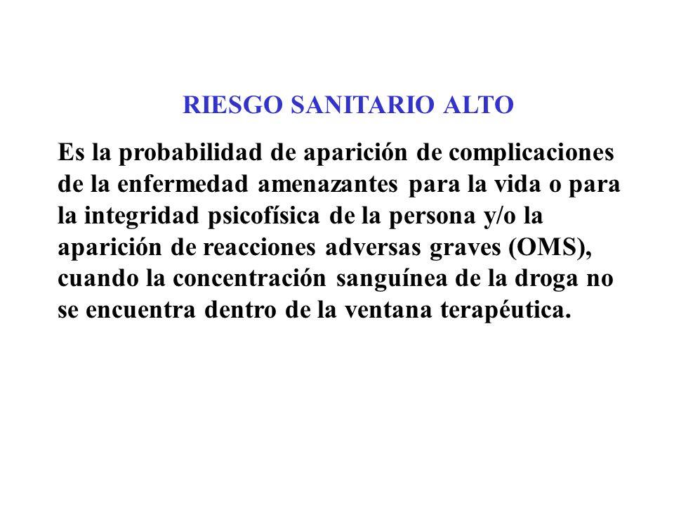 RIESGO SANITARIO ALTO