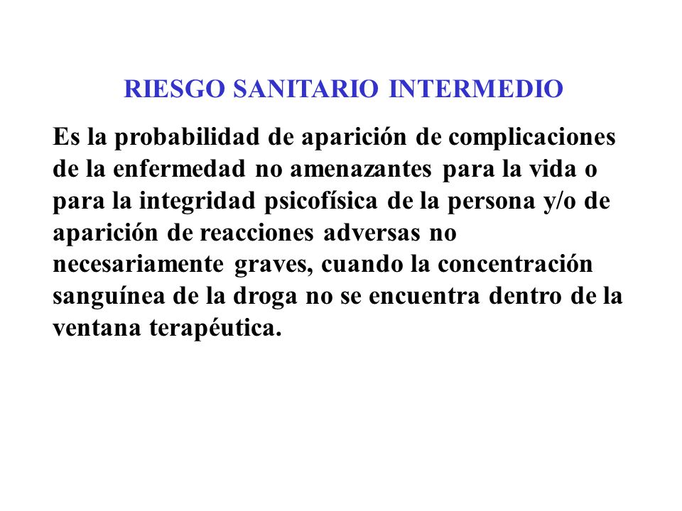 RIESGO SANITARIO INTERMEDIO