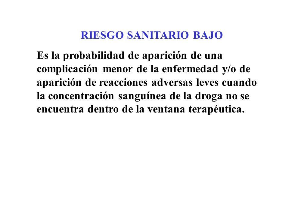 RIESGO SANITARIO BAJO