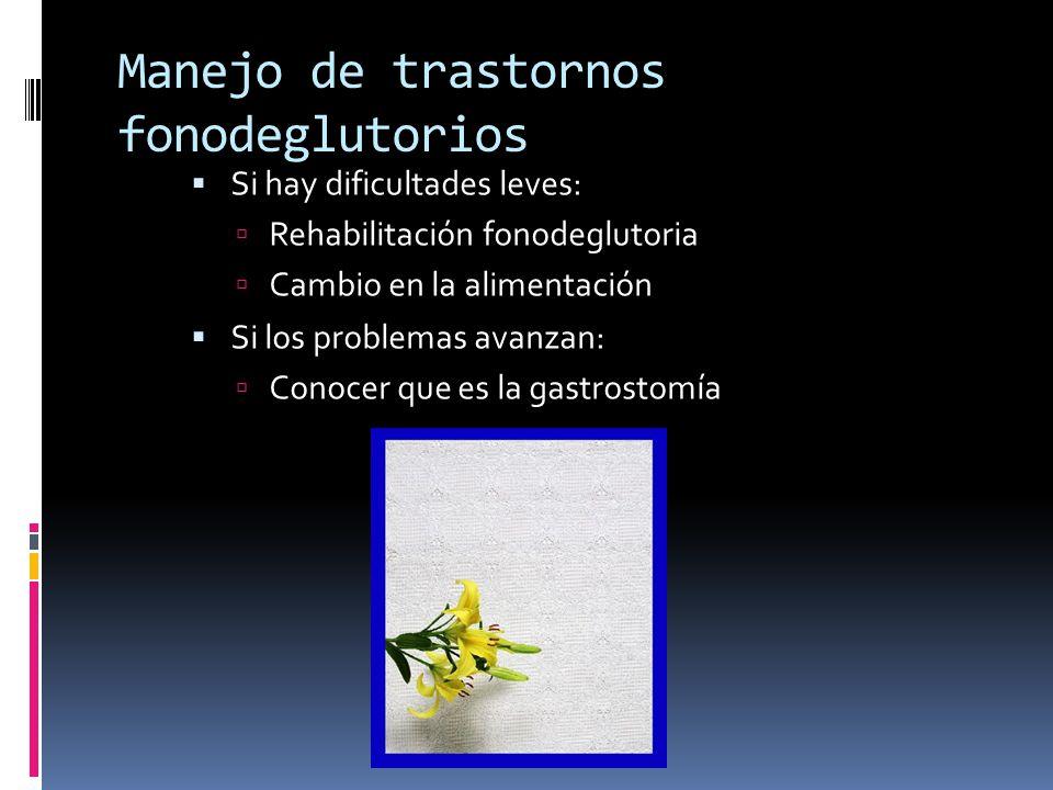 Manejo de trastornos fonodeglutorios