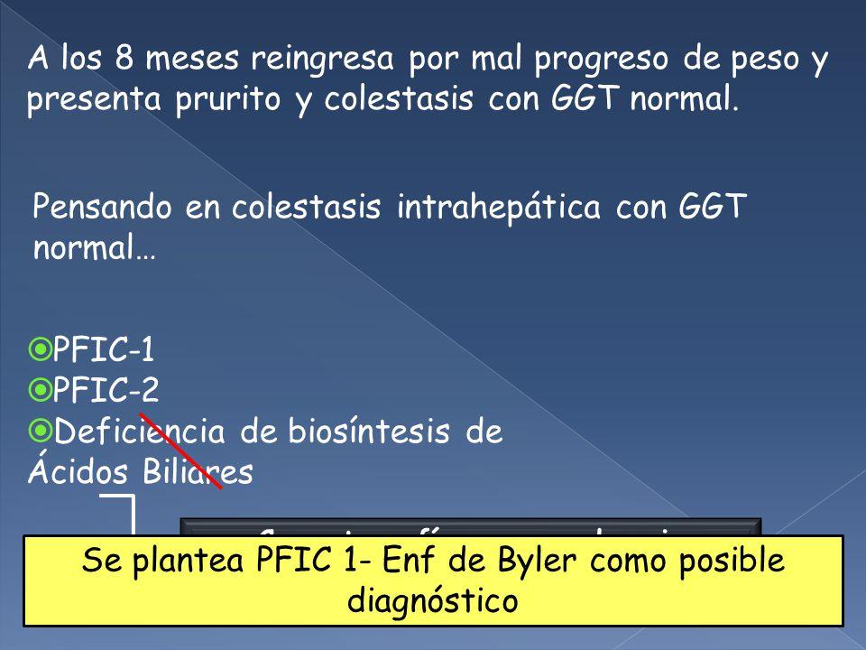 Pensando en colestasis intrahepática con GGT normal…