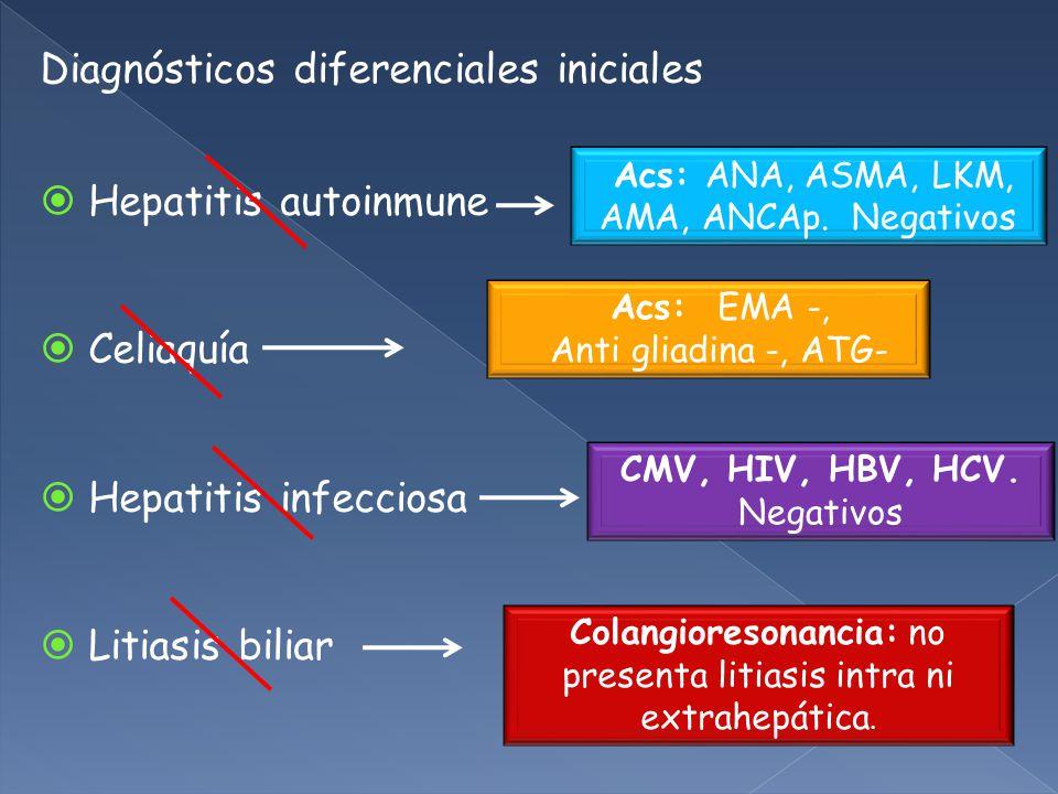 Diagnósticos diferenciales iniciales
