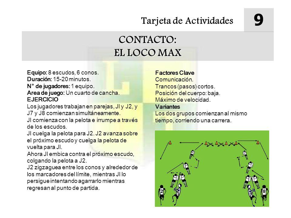 9 CONTACTO: EL LOCO MAX Tarjeta de Actividades