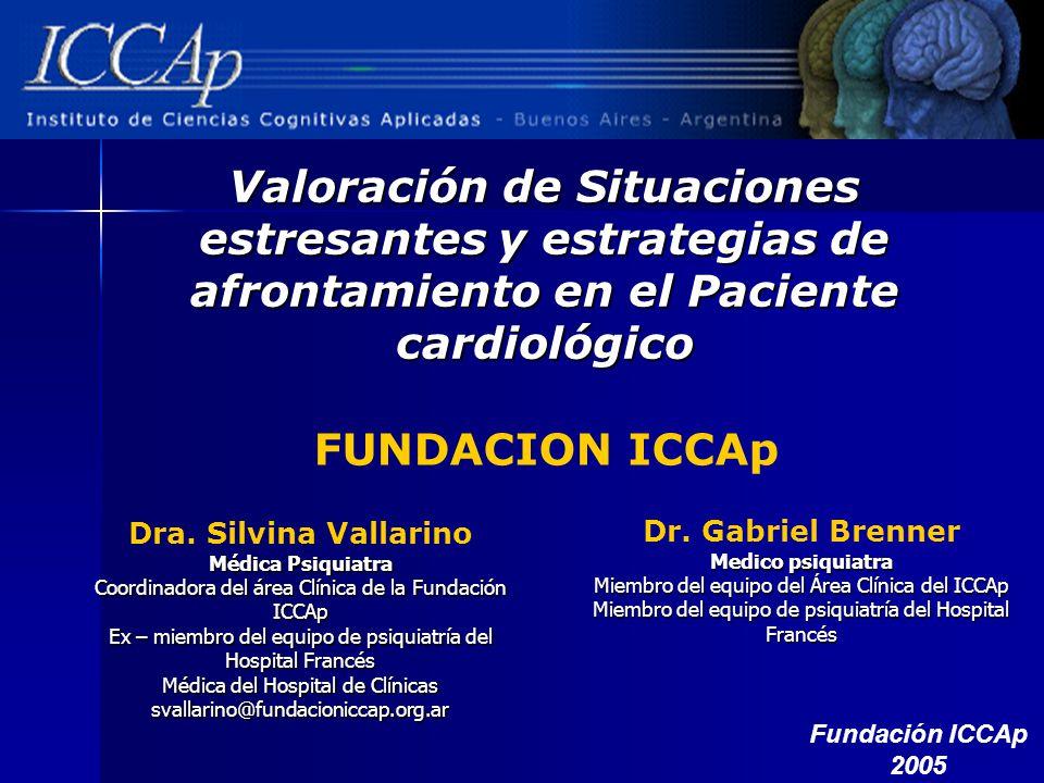 Valoración de Situaciones estresantes y estrategias de afrontamiento en el Paciente cardiológico