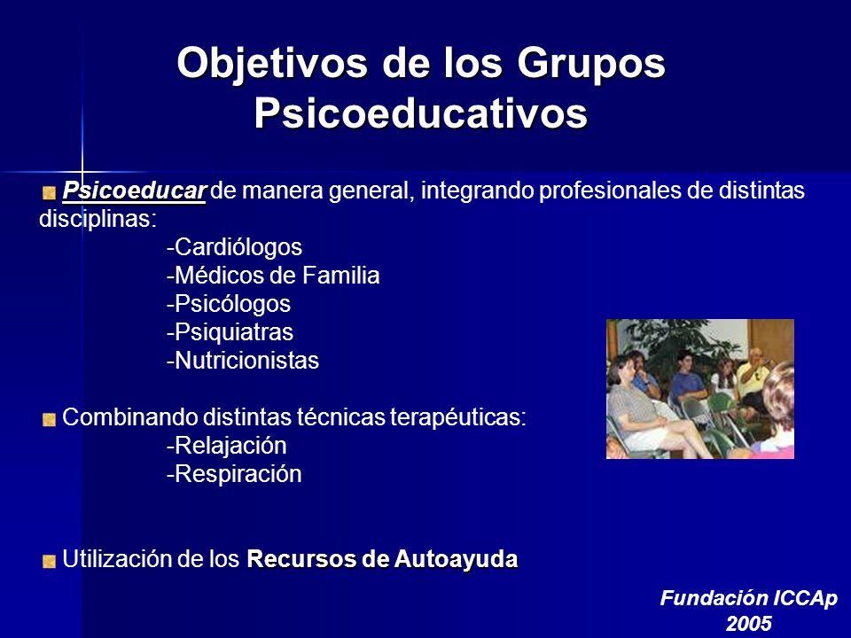 Objetivos de los Grupos Psicoeducativos
