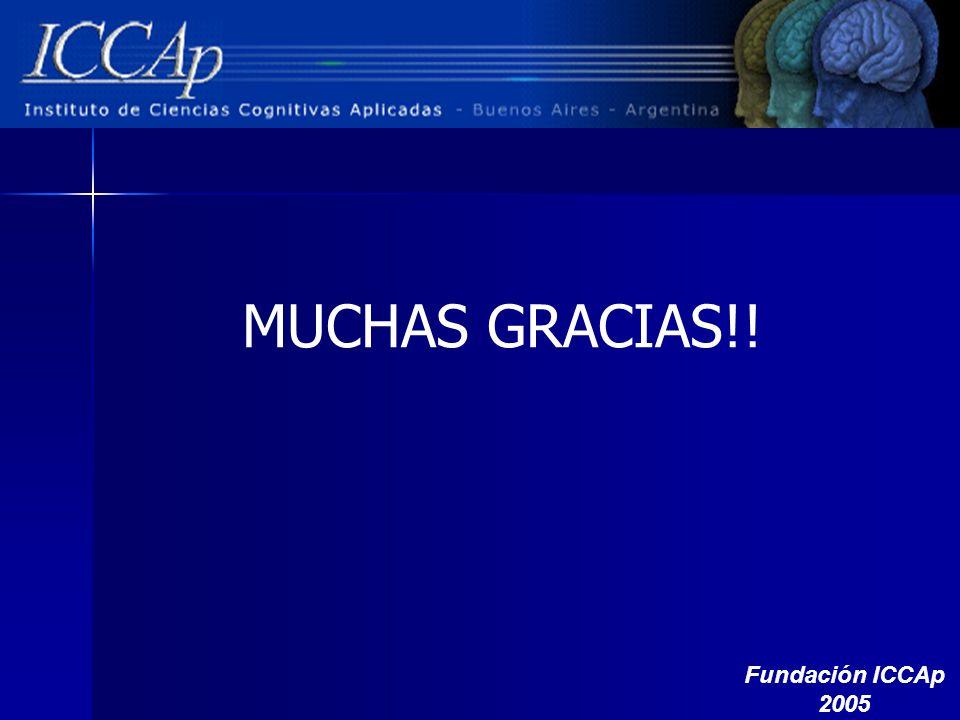 MUCHAS GRACIAS!! Fundación ICCAp 2005