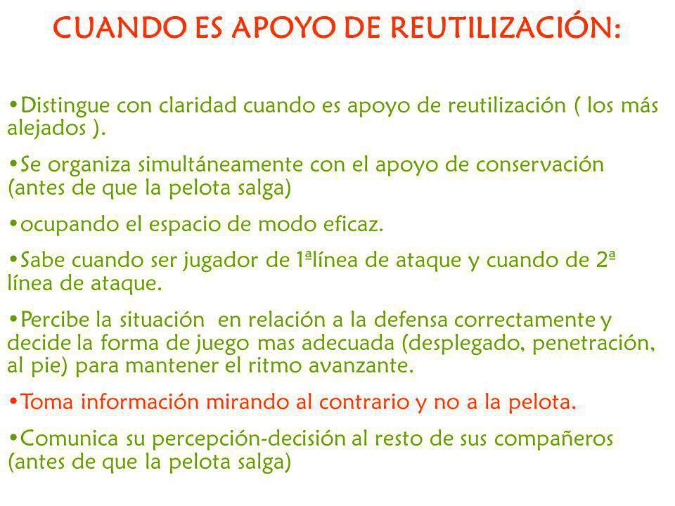 CUANDO ES APOYO DE REUTILIZACIÓN: