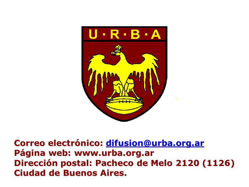 Correo electrónico: difusion@urba.org.ar