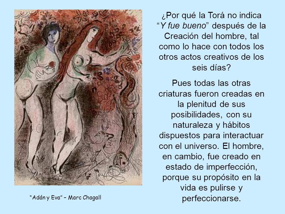 Adán y Eva – Marc Chagall