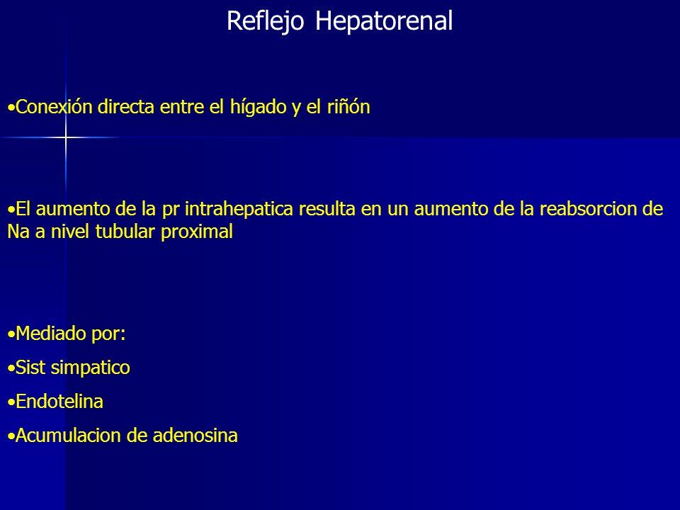 Reflejo Hepatorenal Conexión directa entre el hígado y el riñón