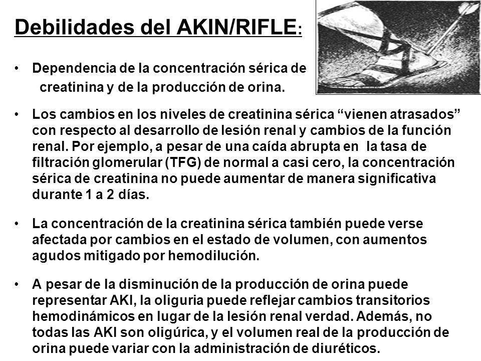 Debilidades del AKIN/RIFLE: