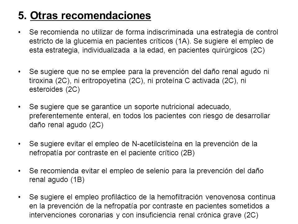 5. Otras recomendaciones