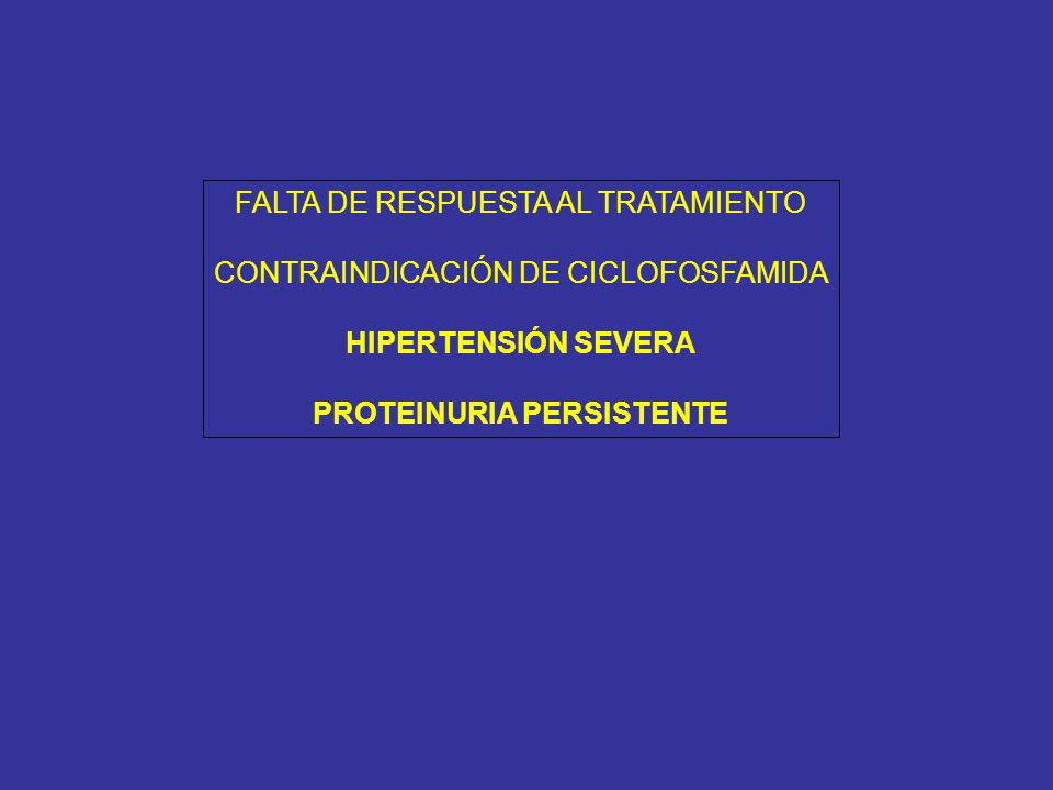 PROTEINURIA PERSISTENTE