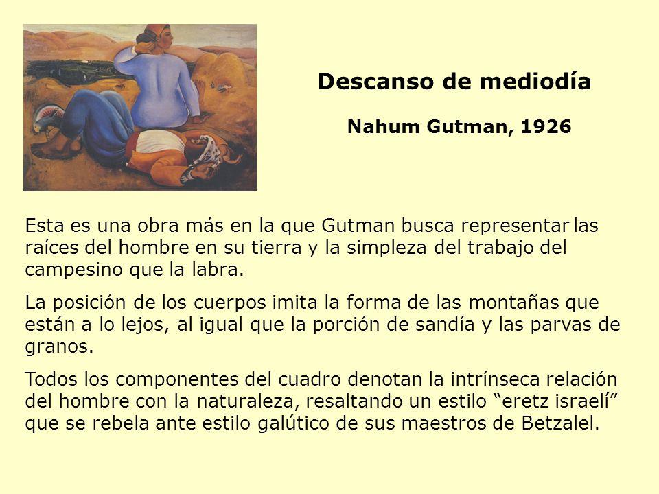 Descanso de mediodía Nahum Gutman, 1926