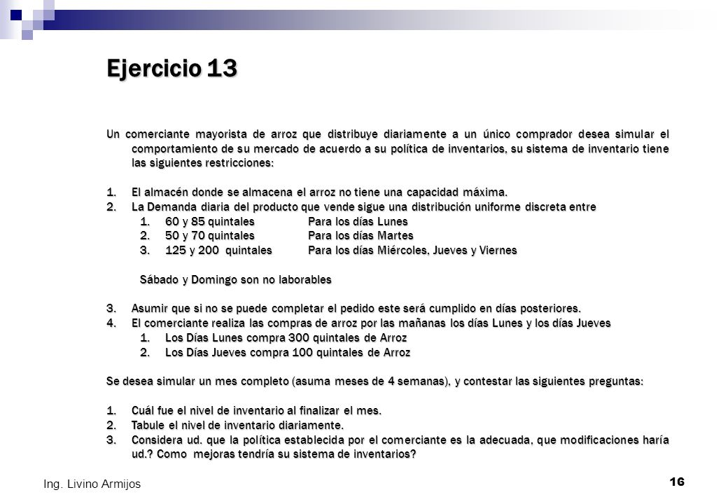 Ejercicio 13
