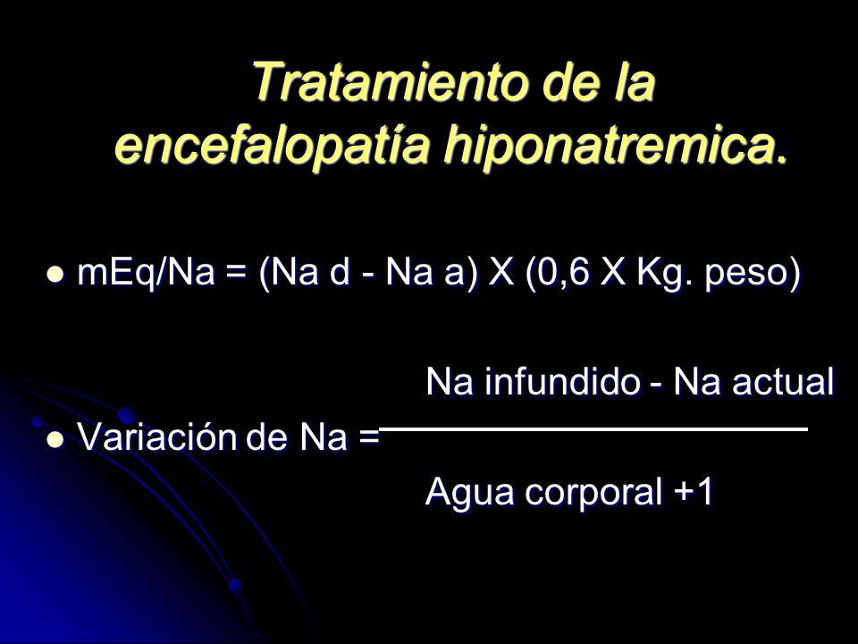 Tratamiento de la encefalopatía hiponatremica.