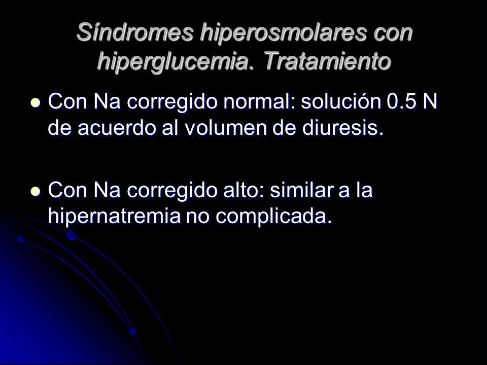 Síndromes hiperosmolares con hiperglucemia. Tratamiento