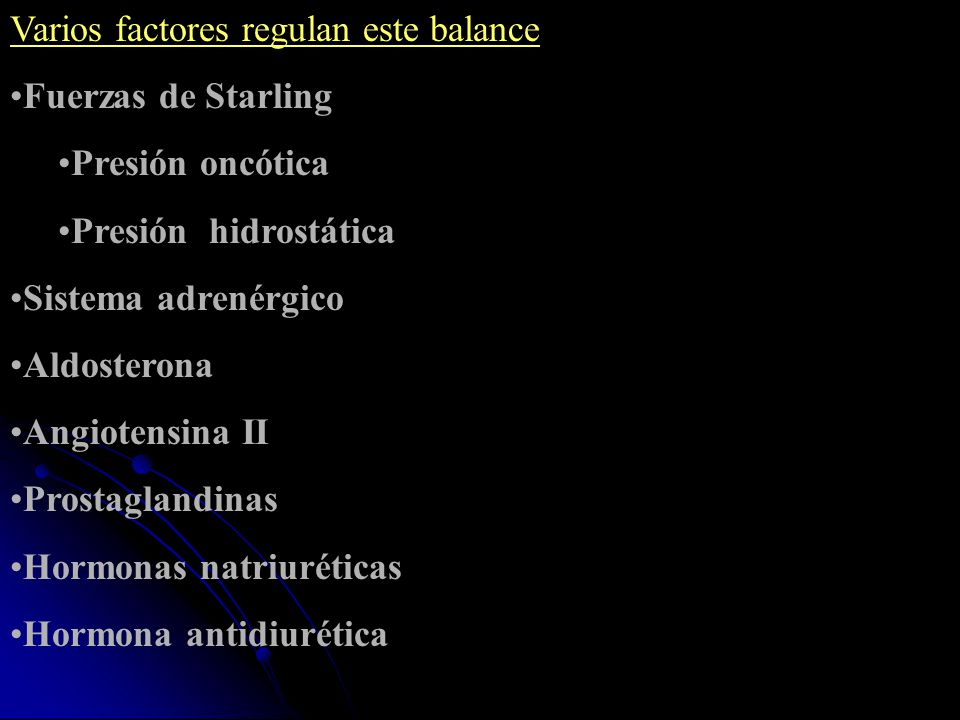 Varios factores regulan este balance