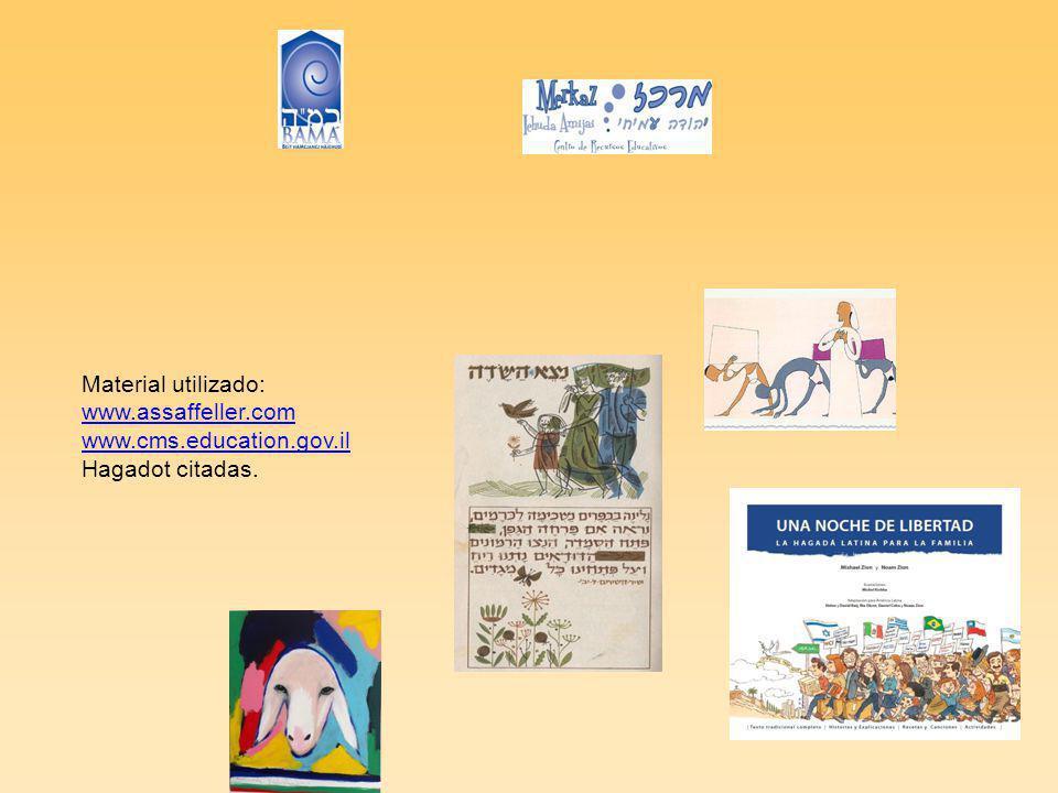 Material utilizado: www.assaffeller.com www.cms.education.gov.il Hagadot citadas.