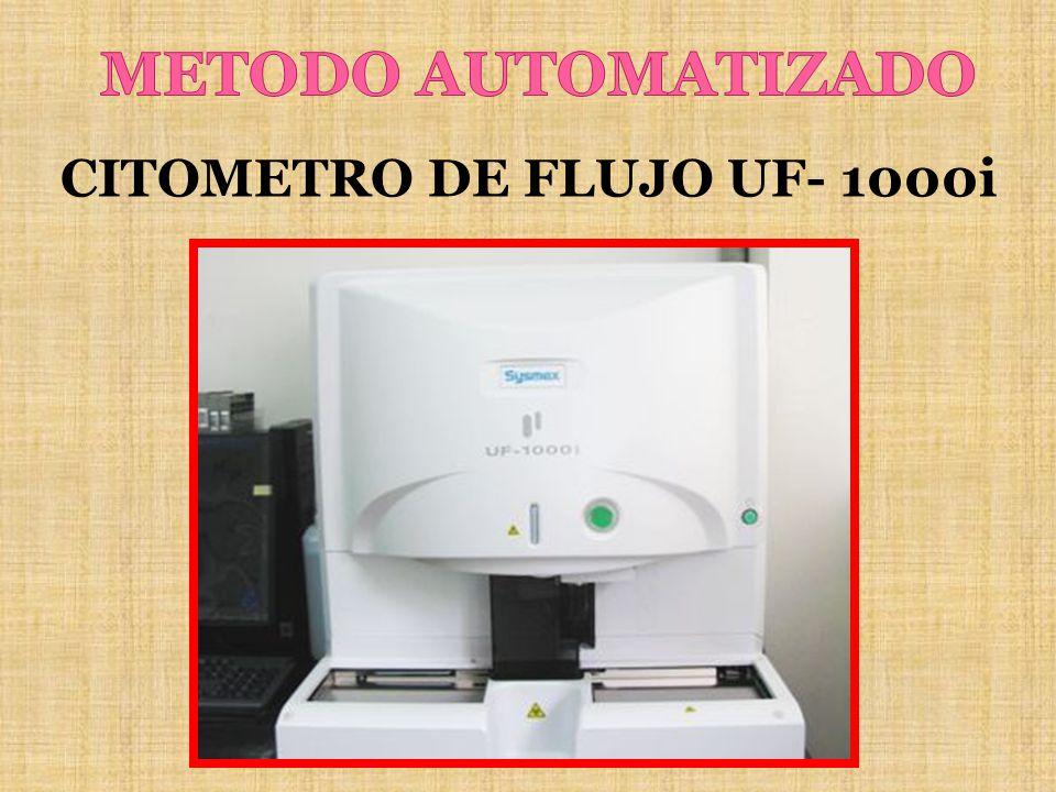 METODO AUTOMATIZADO CITOMETRO DE FLUJO UF- 1000i