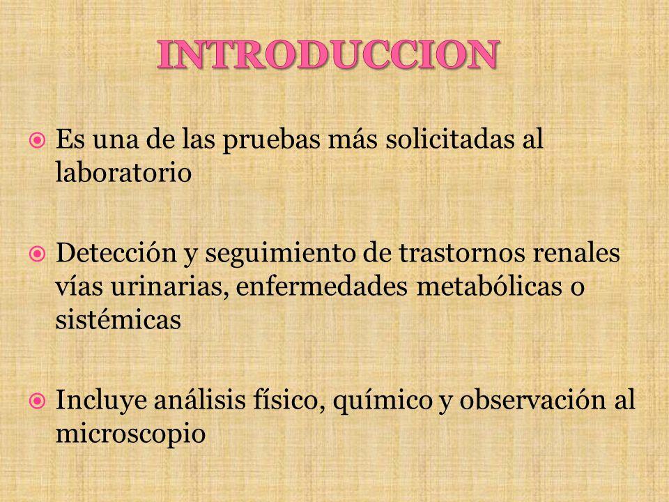 INTRODUCCION Es una de las pruebas más solicitadas al laboratorio