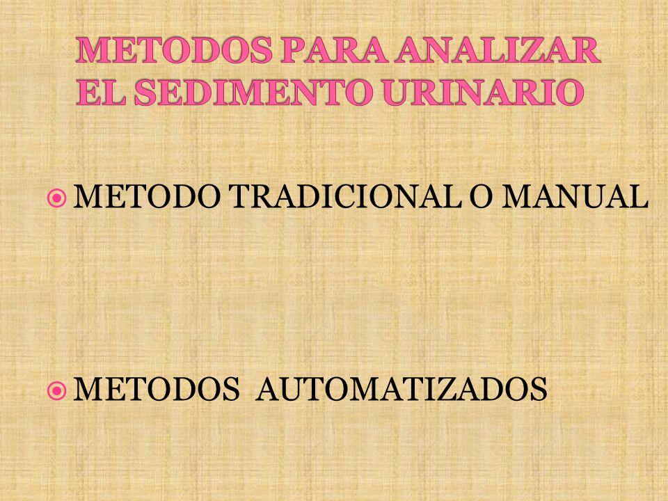 METODOS PARA ANALIZAR EL SEDIMENTO URINARIO