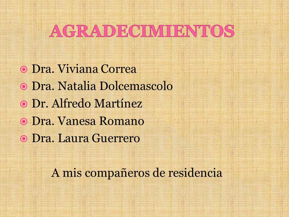 AGRADECIMIENTOS Dra. Viviana Correa Dra. Natalia Dolcemascolo