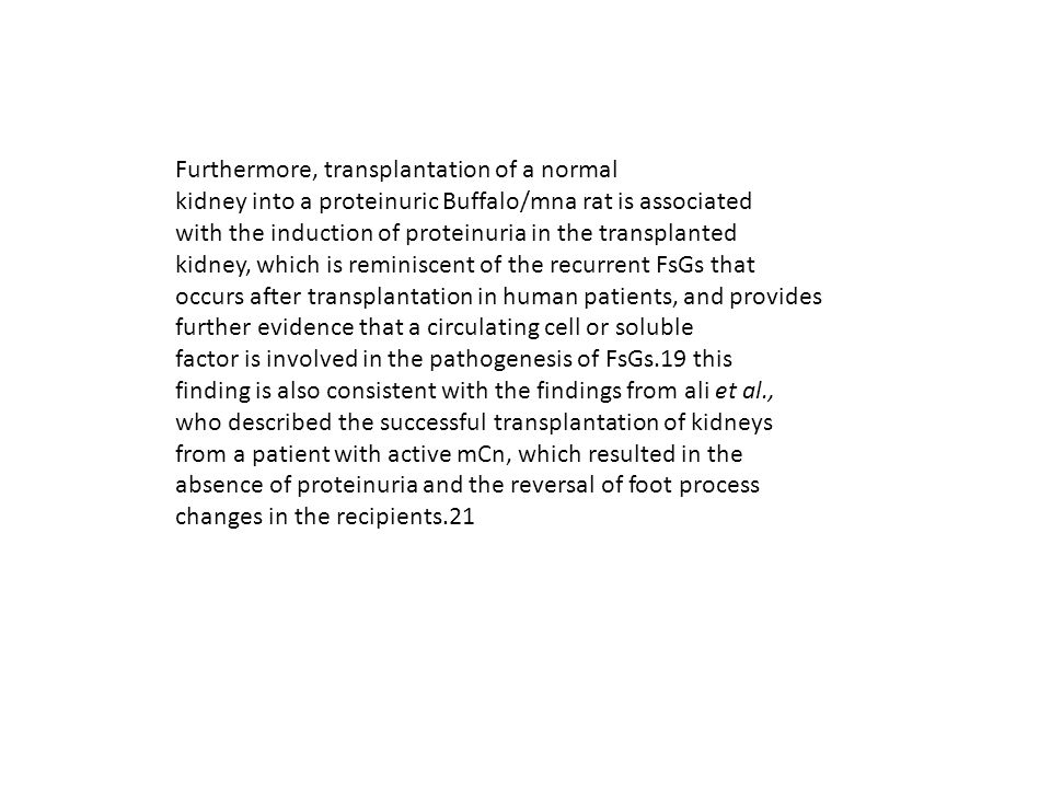 Furthermore, transplantation of a normal