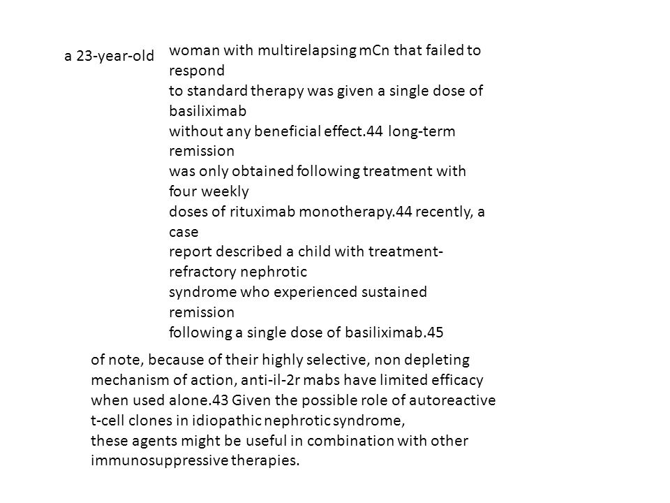 woman with multirelapsing mCn that failed to respond