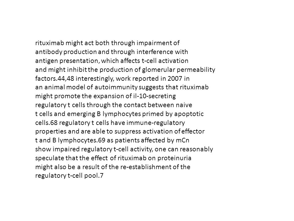 rituximab might act both through impairment of