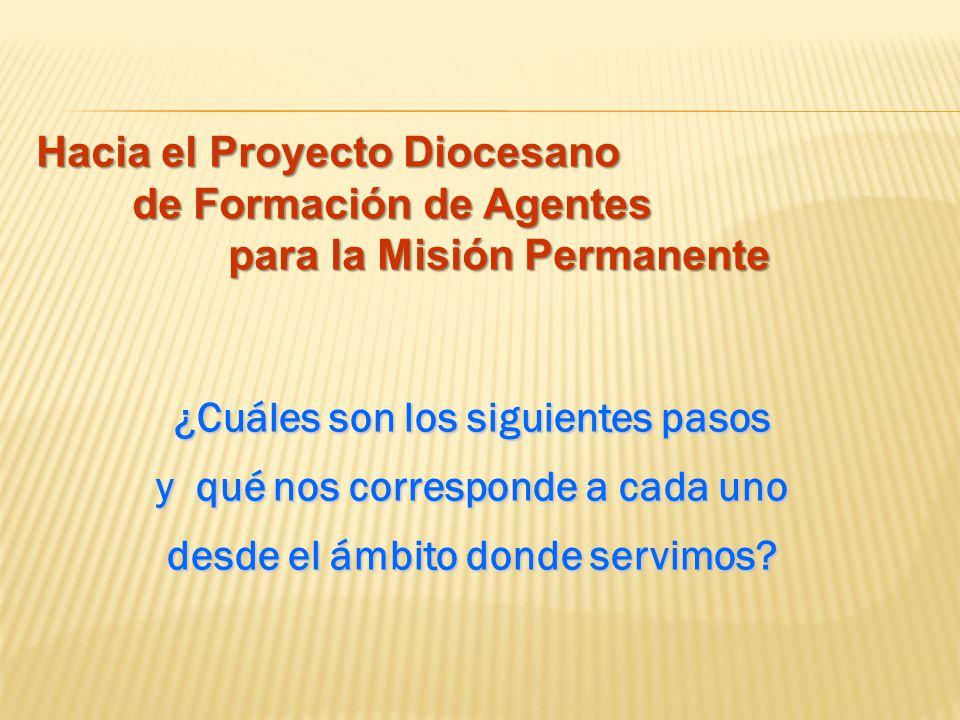 Hacia el Proyecto Diocesano