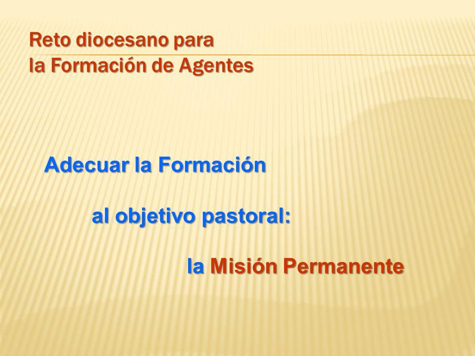 Reto diocesano para la Formación de Agentes