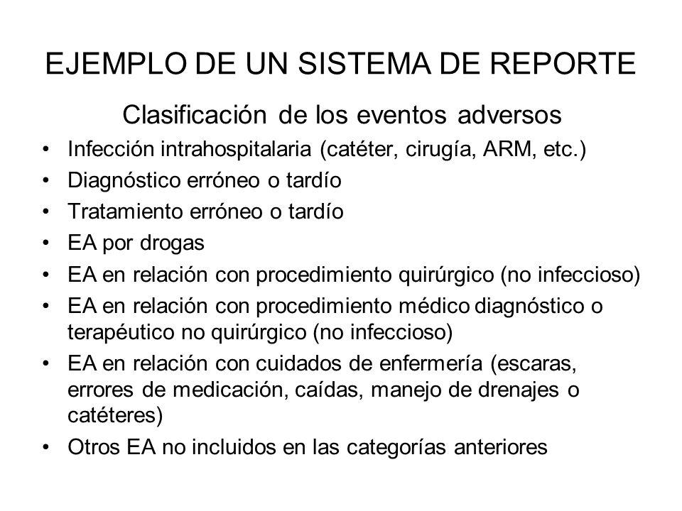 EJEMPLO DE UN SISTEMA DE REPORTE
