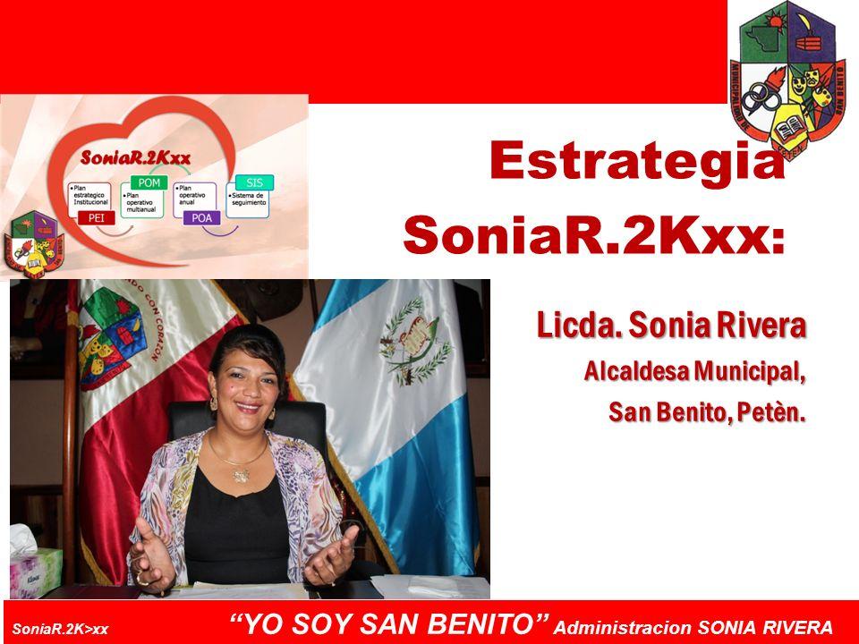 Estrategia SoniaR.2Kxx: Licda. Sonia Rivera Alcaldesa Municipal,