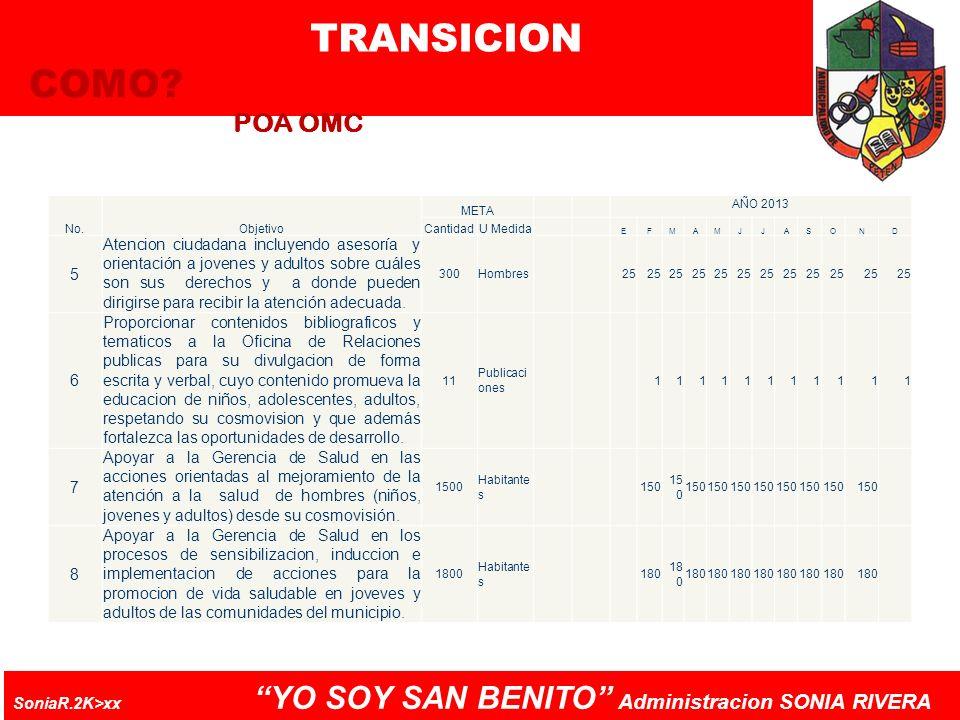 TRANSICION COMO POA OMC 5