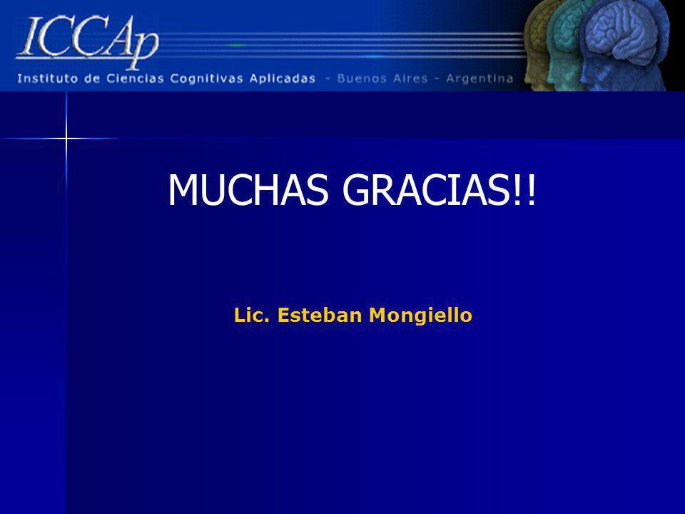 MUCHAS GRACIAS!! Lic. Esteban Mongiello