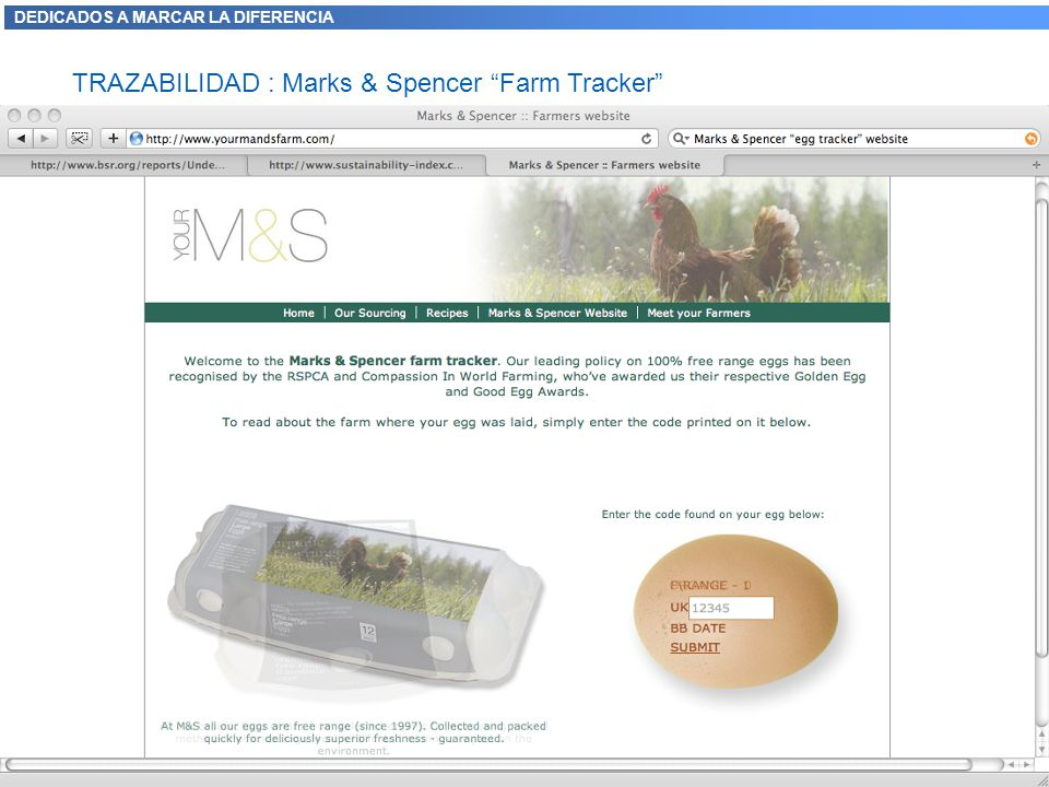 TRAZABILIDAD : Marks & Spencer Farm Tracker