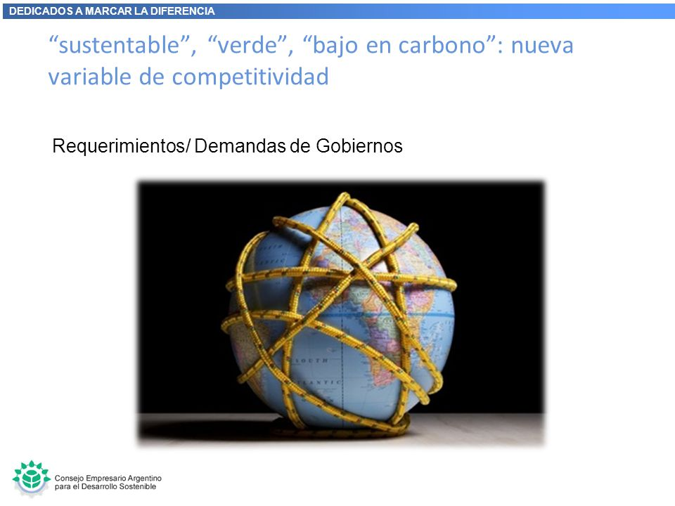 sustentable , verde , bajo en carbono : nueva variable de competitividad