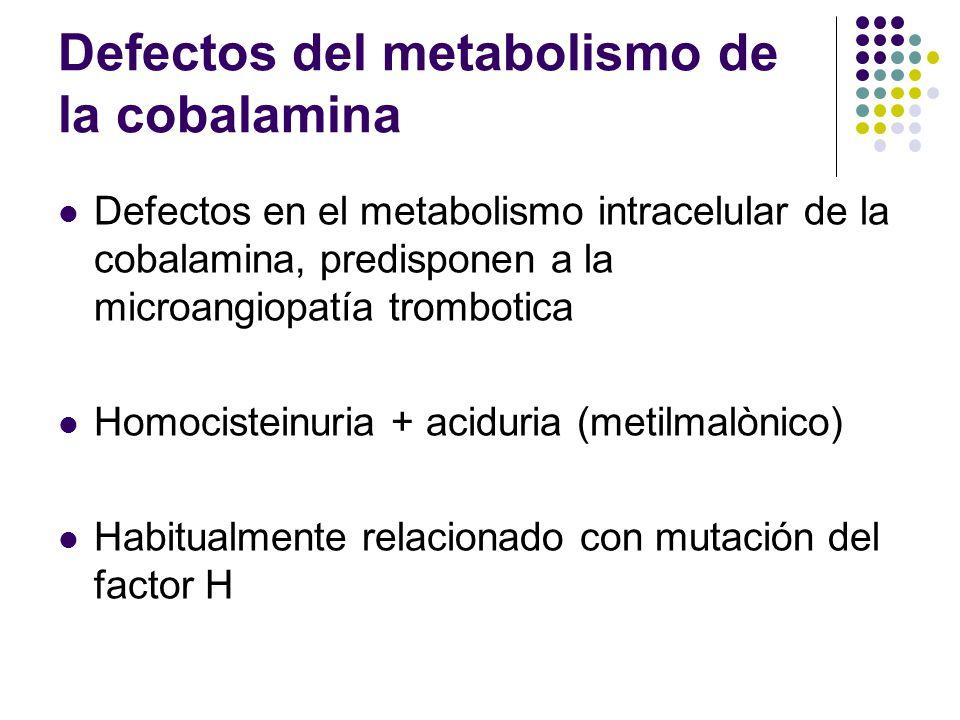 Defectos del metabolismo de la cobalamina