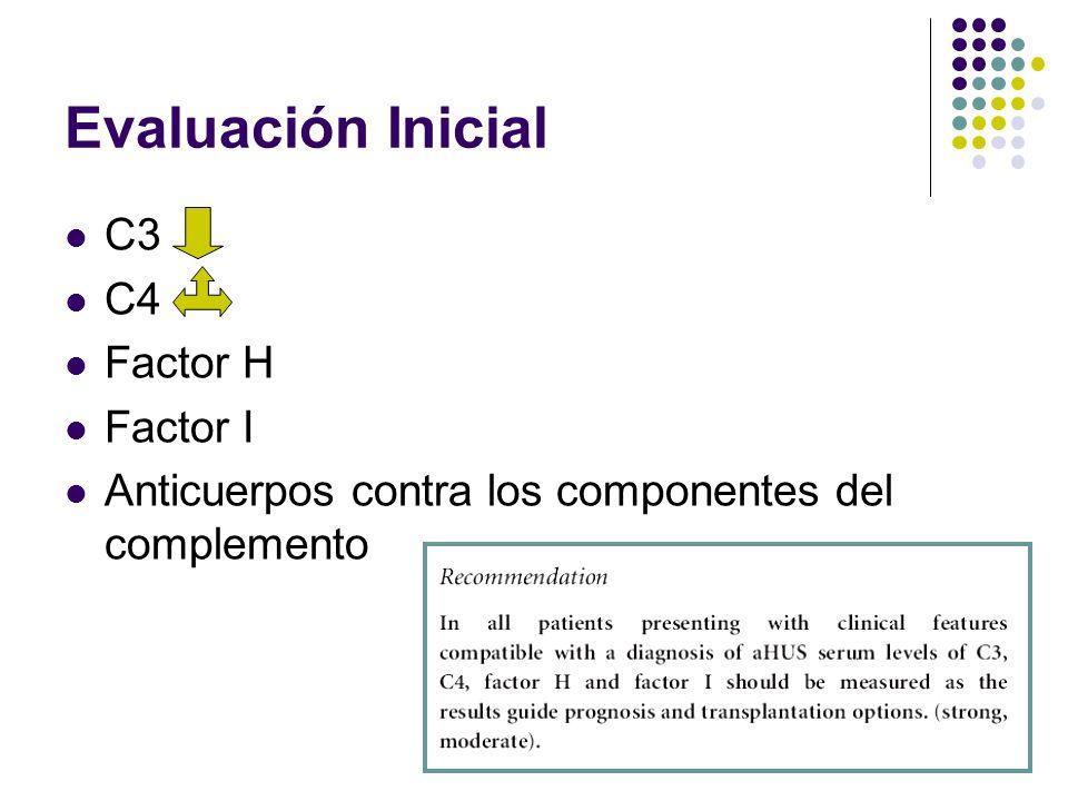 Evaluación Inicial C3 C4 Factor H Factor I